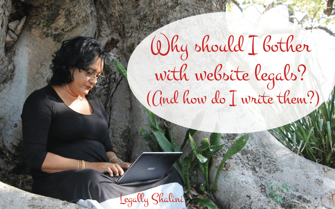 website legals for online small business owners