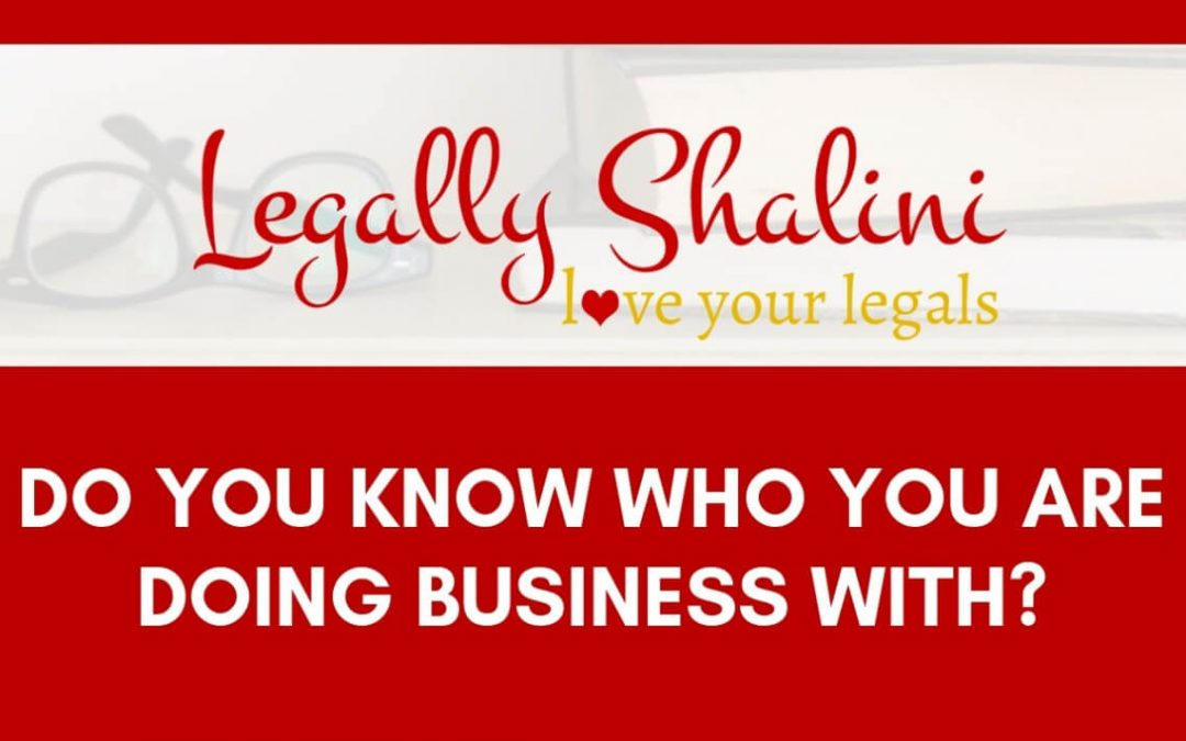 Do You Know Who You Are Doing Business With?