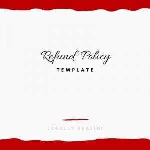 Refund Policy Template Legally Shalini Australia