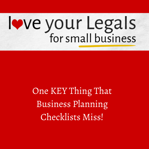 One KEY thing that Business Planning Checklists miss!