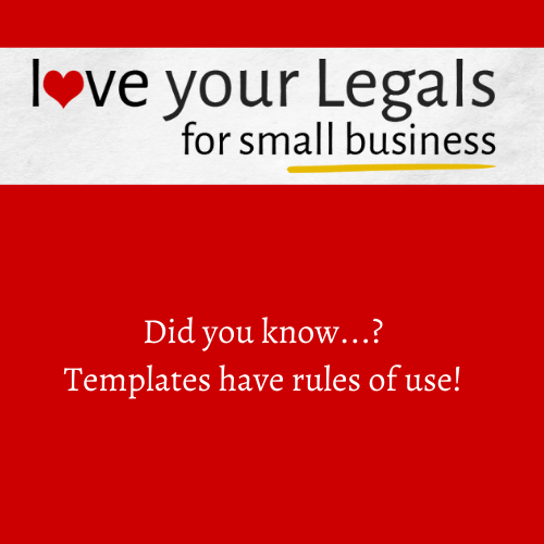 Did you know…? Templates have rules of use! Read on….