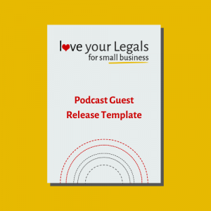 Podcast Guest Release Template