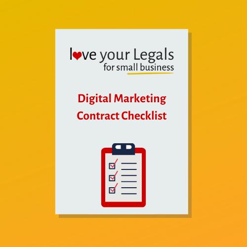 Digital Marketing Contract Checklist