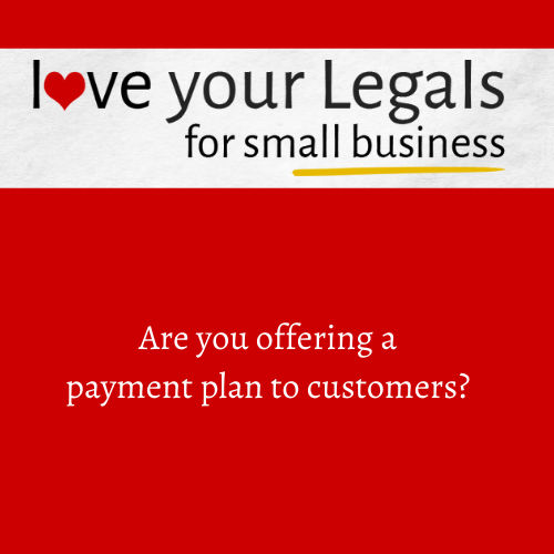 Are you offering a payment plan to customers?